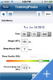TrainingPeaks for iPhone - Add Metrics