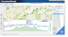 TrainingPeaks Athlete Edition - Map & Graph